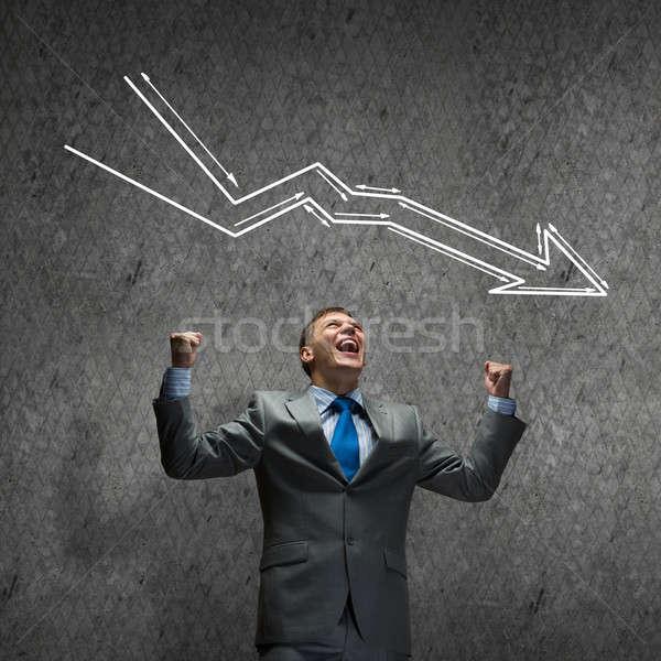 провал бизнеса молодые устал бизнесмен Постоянный Сток-фото © adam121