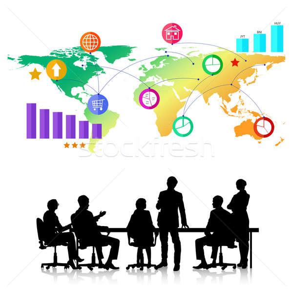 деловое совещание группа деловые люди красочный применение Сток-фото © adam121