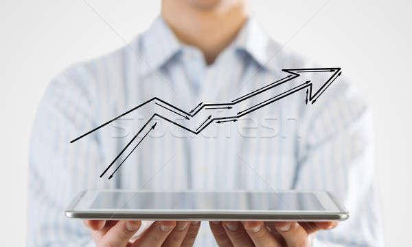 Wzrostu postęp działalności blisko widoku biznesmen Zdjęcia stock © adam121
