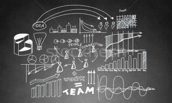 Stratégie d'entreprise planification graphiques diagramme Photo stock © adam121