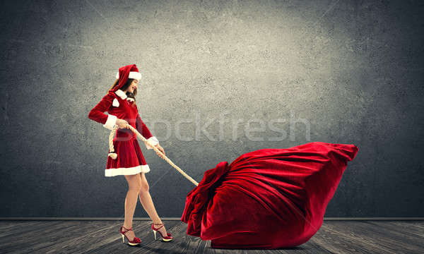 Natal dom mulher enorme Foto stock © adam121