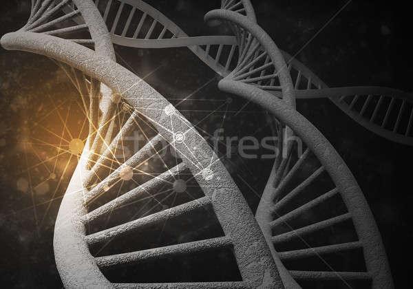 Zdjęcia stock: DNA · cząsteczki · 3D · obraz · badań