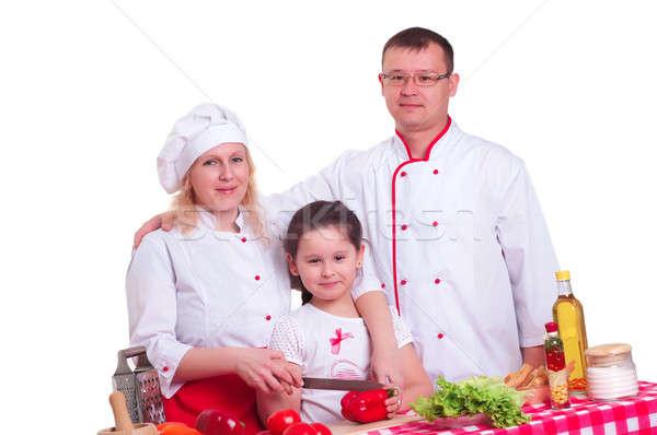 family cooks Stock photo © adam121