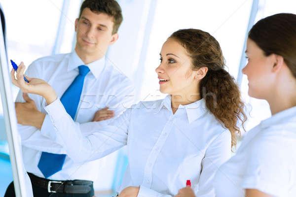 businessmen are meeting near the flipchart Stock photo © adam121