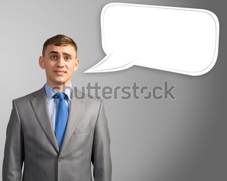 businessman, head over to baloon Stock photo © adam121