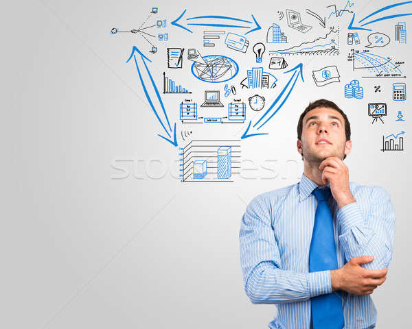 Stock photo: thinking business man
