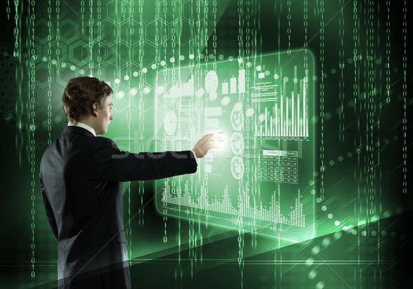 Businessman using modern technologies Stock photo © adam121