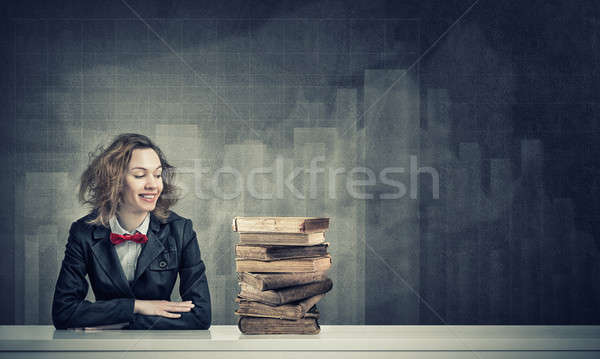 She is studying hard Stock photo © adam121