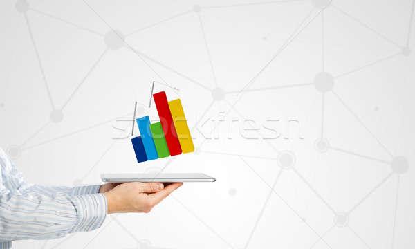 Dinâmica mercado de vendas empresário mão Foto stock © adam121