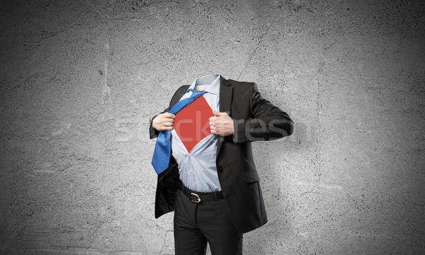 Headless super businessman Stock photo © adam121