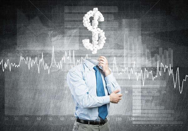 Photo stock: Toujours · pense · argent · affaires · signe · du · dollar · Finance