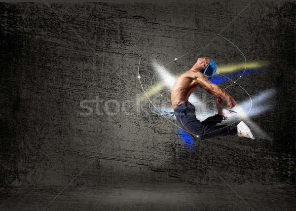 Táncos absztrakt kollázs ugrik divat test Stock fotó © adam121