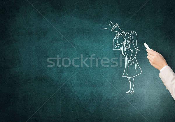 Caricatura donna medico femminile mano disegno Foto d'archivio © adam121