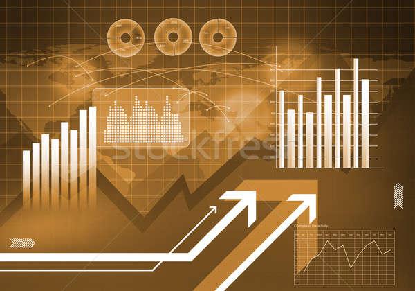 Innovativo digitale immagine grafici diagrammi Foto d'archivio © adam121