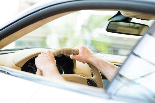 мужчины стороны автомобилей колесо рук Сток-фото © adam121