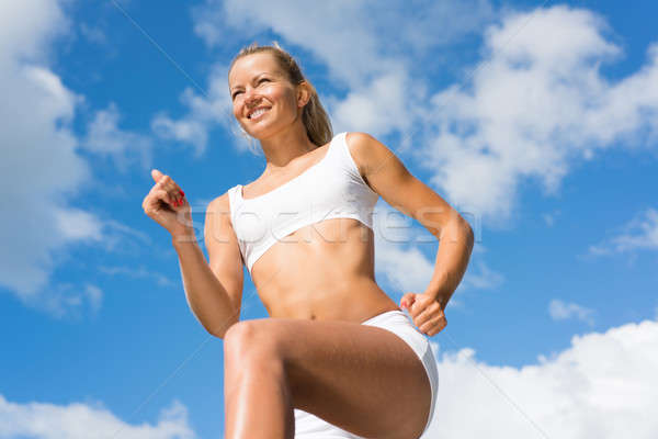 young athletic woman Stock photo © adam121