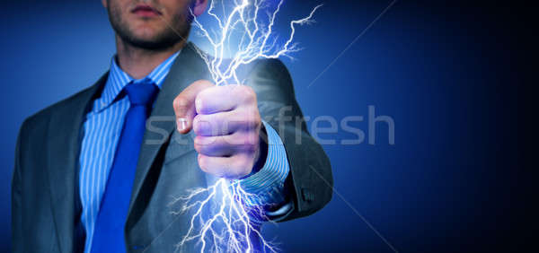 close-up of clasped hand with lights Stock photo © adam121