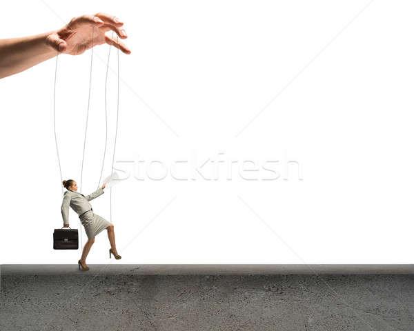 Business woman Marionette konkrete Business Mann Arbeit Stock foto © adam121
