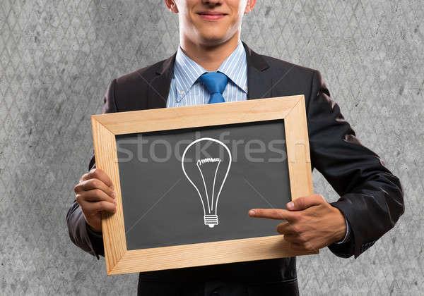 Businessman with frame Stock photo © adam121