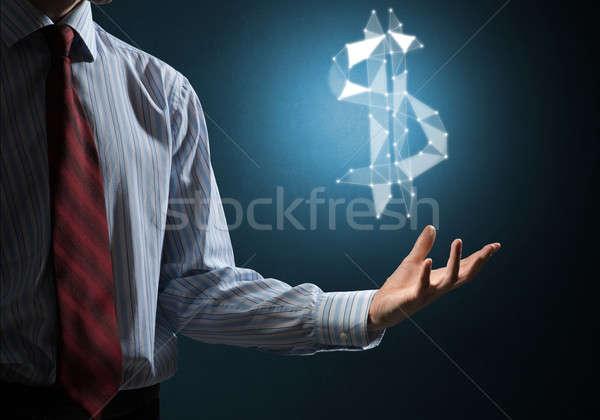 ドル 通貨 シンボル ビジネスマン ストックフォト © adam121