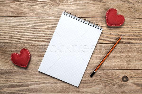 ストックフォト: 愛 · メッセージ · 招待 · 心 · 帳 · シート