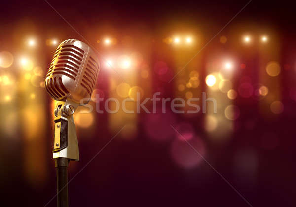 Microphone on stage Stock photo © adam121