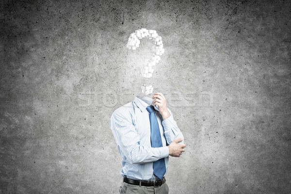 Big question in his head Stock photo © adam121