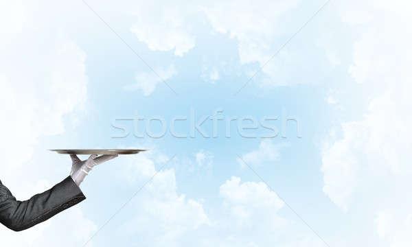 Camarero vacío plata listo producto Foto stock © adam121