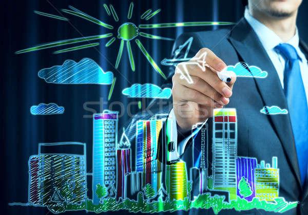 Architecture designer draw ideas Stock photo © adam121