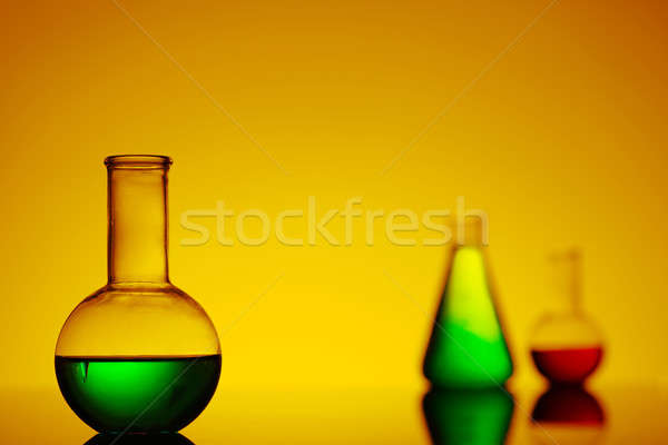 close-up of the bottle with green liquid Stock photo © adam121