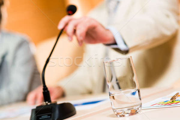 Glas water business conferentie vergadering Stockfoto © adam121