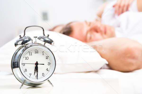 Despertador adormecido pessoas sorrir fundo Foto stock © adam121