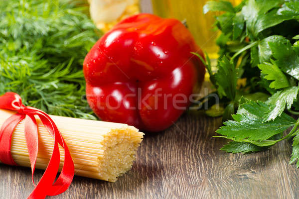 Italian spaghetti and bell Pepper Stock photo © adam121