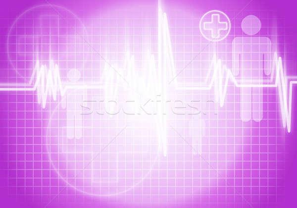Serca opieki cyfrowe obraz kolor tle Zdjęcia stock © adam121