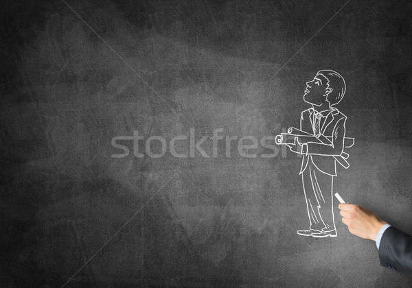 Caricature of businessman Stock photo © adam121