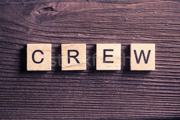 équipage équipe affaires image mot bois Photo stock © adam121