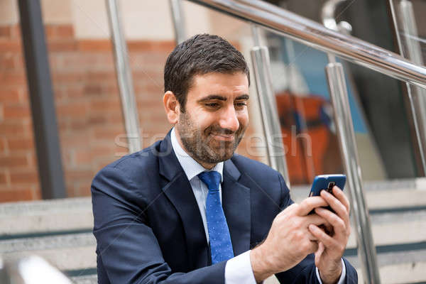 Businessman making calls Stock photo © adam121