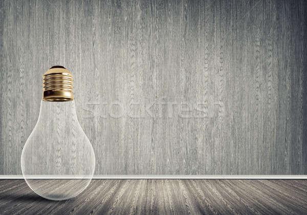 Ampul oda cam beton boş oda ışık Stok fotoğraf © adam121