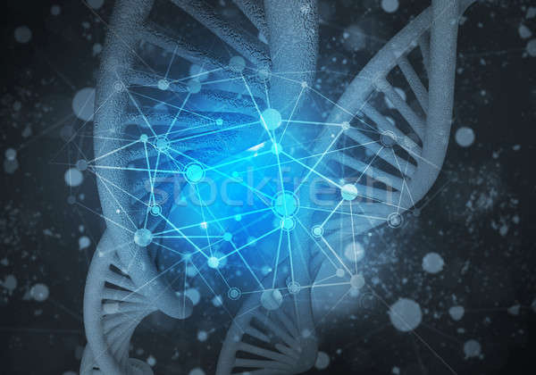 DNA molecules background, 3D rendering Stock photo © adam121