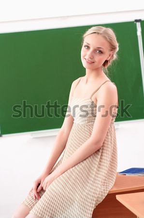 young teacher in the classroom Stock photo © adam121