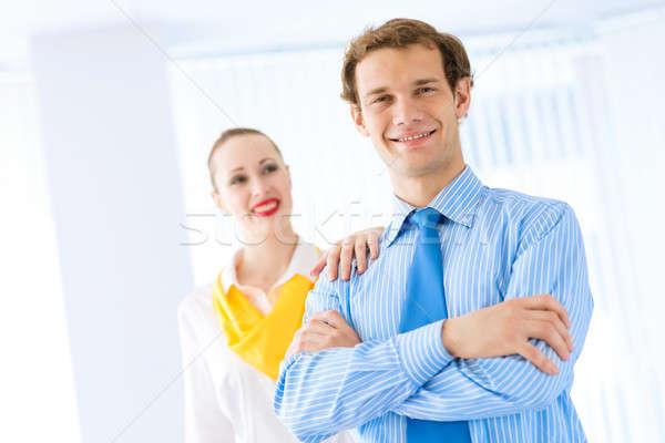 successful businessman, his arms crossed Stock photo © adam121