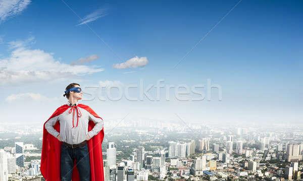 Jovem homem máscara brasão cintura Foto stock © adam121