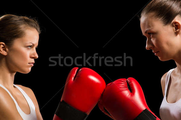 confrontation between the two women boxers Stock photo © adam121