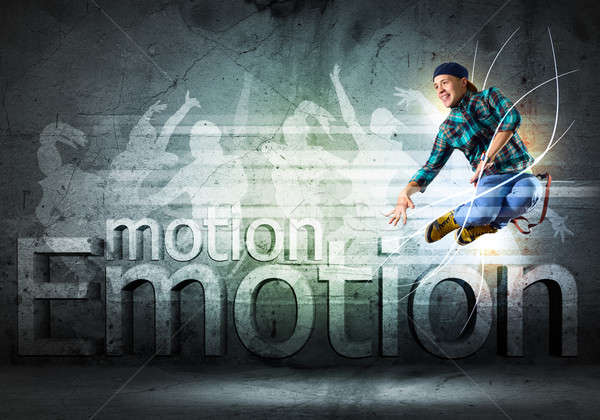 Tancerz obraz młody człowiek taniec kolaż Zdjęcia stock © adam121