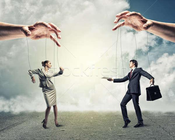 Due fantoccio imprenditore immagine piedi altro Foto d'archivio © adam121