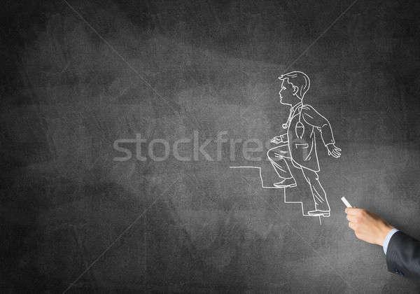 Caricatura uomo medico maschio mano disegno Foto d'archivio © adam121