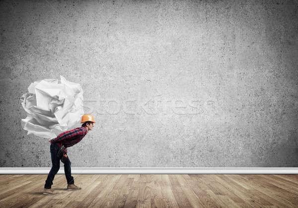 Engineer man carry load Stock photo © adam121