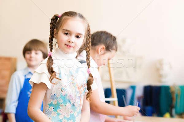 portrait of a nice girl Stock photo © adam121
