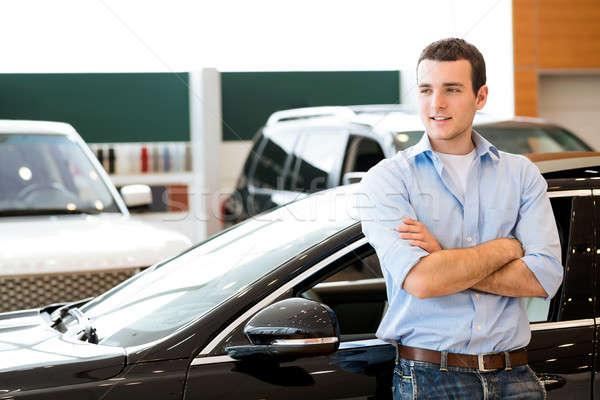 man standing near a car Stock photo © adam121