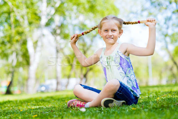 portrait of a girl in a park Stock photo © adam121